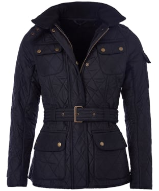 Women's Barbour International Tourer Polarquilt Jacket - Black