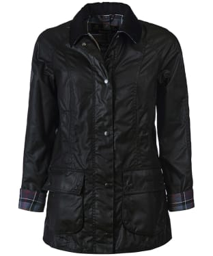 Women's Barbour Beadnell Wax Jacket - Black