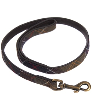 Barbour Tartan and Leather Dog Lead - Classic Tartan