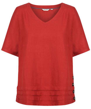 Women's Lily & Me Bluebell Top - Earth Red