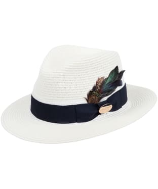 Women's Hicks & Brown The Adelburgh Fedora – Classic Feather - Cream