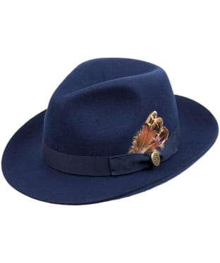Women's Hicks & Brown The Thurlow Trilby – Pheasant Feather - Navy
