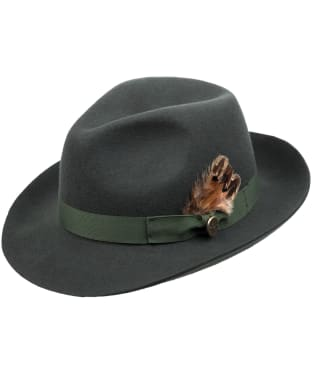 Women's Hicks & Brown The Thurlow Trilby – Pheasant Feather - Olive