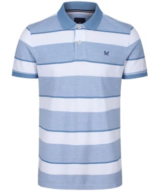Men's Crew Clothing Oxford Polo Shirt - Blue / White