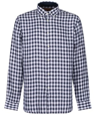 Men's Schöffel Sandbanks Linen Check Shirt - Navy Check