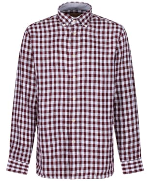Men's Schöffel Sandbanks Linen Check Shirt - Fig Check