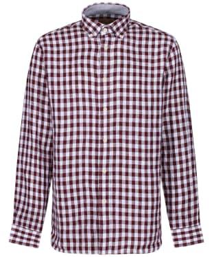 Men's Schöffel Sandbanks Linen Check Shirt - Fig Check