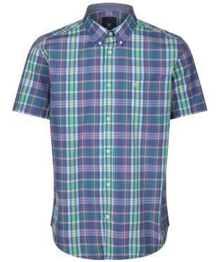 Men's Crew Clothing Raven Pop Check Shirt - Rose / Indigo / Blue