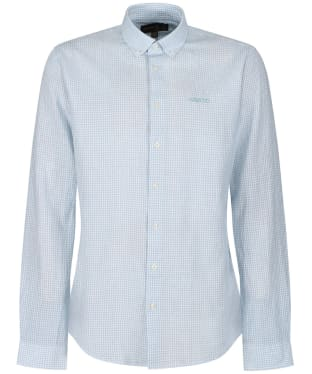 Men's Musto Lightweight Long Sleeve Gingham Shirt - Pale Blue Mini Gingham