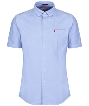 Men's Musto Aiden Short Sleeve Oxford Shirt - Pale Blue