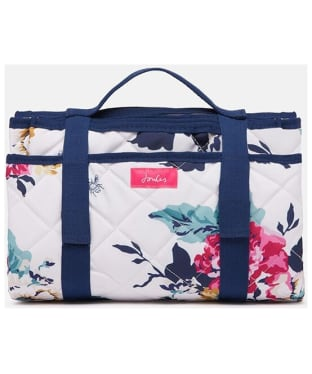 Joules Water Resistant Picnic Blanket - Cream Anniversary Floral