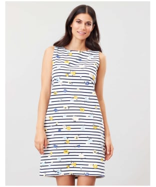 Women's Joules Riva Print Dress - Navy Meadow Stripe