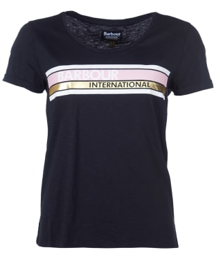 Women's Barbour International Lightning Tee - Black