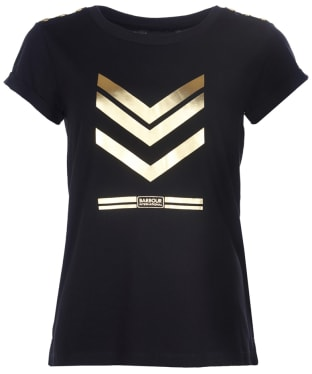 Women's Barbour International Scorpion Tee - Black