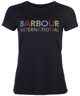 Women's Barbour International Interceptor Tee - Black