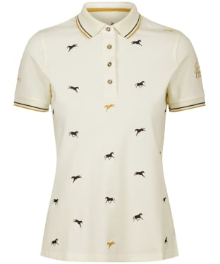 Women's Joules Badminton Horse Trials Polo Shirt - Cream