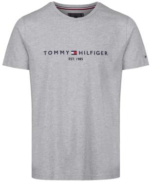 Men's Tommy Hilfiger Logo Tee - Cloud Heather