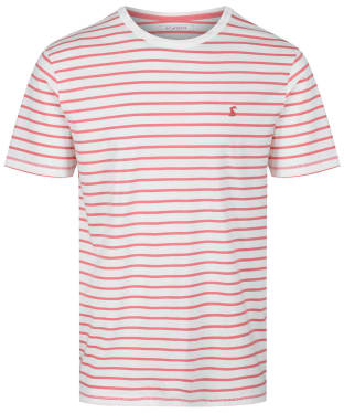 Men's Joules Boathouse Tee - White/Orange Stripe