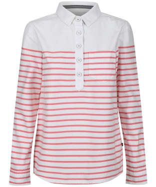 Women's Joules Ashbrook Stripe Deck Shirt - White / Red Stripe