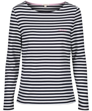 Women's Barbour Hawkins Stripe Top - Navy Stripe