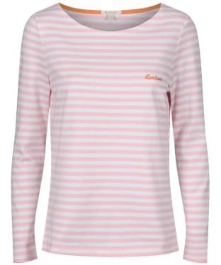 Women's Barbour Hawkins Stripe Top - Cloud