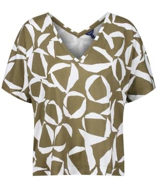 Women's Gant Cresent Bloom Top - Olive