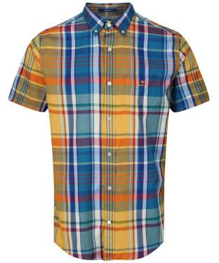 Men's GANT Windblown Oxford Madras Shirt - Ivy Gold