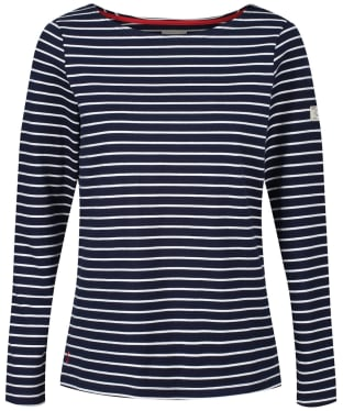 Women's Joules Harbour L/S Jersey Top - Navy / Cream Stripe