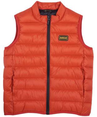 Boy's Barbour International Reed Gilet 6-9yrs - Orange
