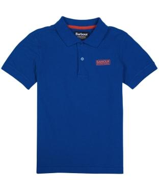 Boy's Barbour International Essentials Polo Shirt, 10-15yrs - Cobalt Blue