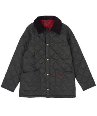 Boy's Barbour Liddesdale Quilted Jacket, 10-15yrs - Dark Olive