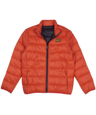 Boy's Barbour International Reed Quilted Jacket, 2-9yrs - Orange