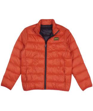Boy's Barbour International Reed Quilted Jacket, 2-9yrs - Orange