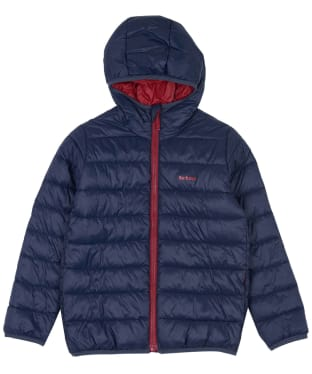 Boy's Barbour Trawl Quilted Jacket, 6-9yrs - Navy / Crimson