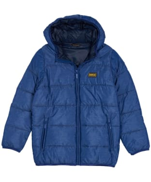 Boy's Barbour International Court Quilted Jacket, 6-9yrs - Inky Blue