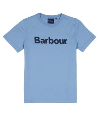 Boy's Barbour Logo Tee, 6-9yrs - Powder Blue