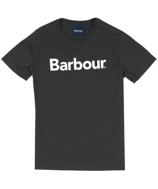 Boy's Barbour Logo Tee, 6-9yrs - Forest