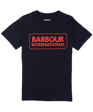 Boy's Barbour International Essential Large Logo Tee, 10-15yrs - New Black