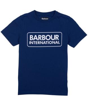 Boy's Barbour International Essential Large Logo Tee, 6-9yrs - Inky Blue
