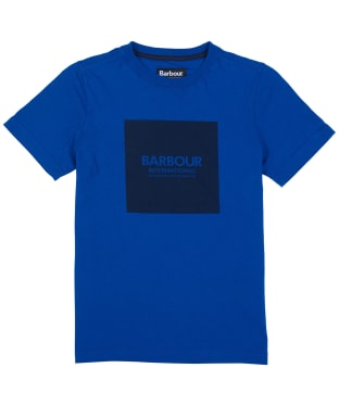 Boy's Barbour International Block Logo Tee, 6-9yrs - Cobalt Blue