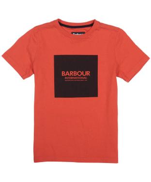 Boy's Barbour International Block Logo Tee, 6-9yrs - Orange