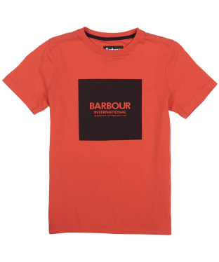 Boy's Barbour International Block Logo Tee, 10-15yrs - Orange