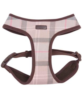 Barbour Tartan Dog Harness - Taupe / Pink Tartan