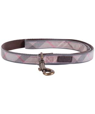 Barbour Reflective Tartan Dog Lead - Taupe / Pink Tartan