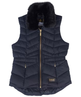 Girl's Barbour International Halfback Gilet, 6-9yrs - Black