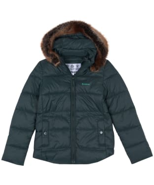 Girl's Barbour Dover Quilted Jacket, 6-9yrs - Isle Green
