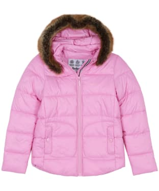 Girl's Barbour Dover Quilted Jacket, 6-9yrs - Moonlight Pink