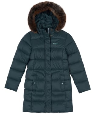 Girls Barbour Bridled Quilted Jacket, 10-15yrs - Isle Green