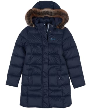 Girls Barbour Bridled Quilted Jacket, 10-15yrs - Dark Navy