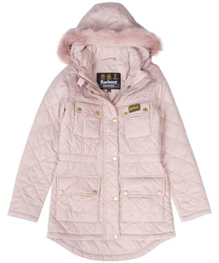 Girl's Barbour International Enduro Quilted Jacket, 10-14yrs - Rose Quartz